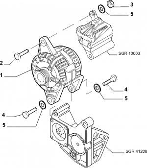 ALTERNATOR AND MOUNTING