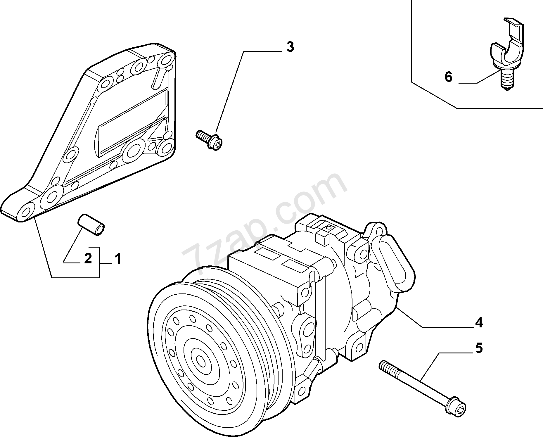 Ac Compressor Diagram Pro Air Conditioning Fiat Nuovo Fiorino Qubo 2007